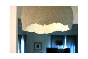 Luminária em papel machê